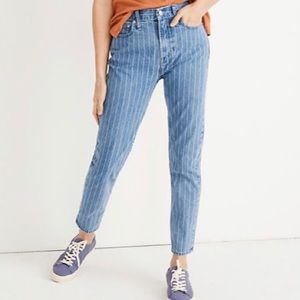 NWT Madewell Perfect Vintage Jean: Pinstripe Ed.